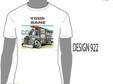 KOOLART DODGE FIRE TRUCK PERSONALISED NAME T-SHIRT GIFT PRESENT CAR MOTOR 922