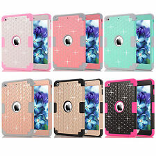 Diamond Heavy duty Shock drop Resistant triple Protection Case For iPad mini1234