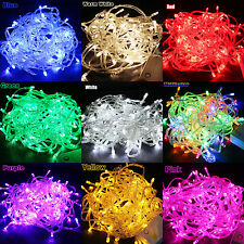 100/200 LED String Fairy Lights Indoor/Outdoor Xmas Christmas Party Garden Decor