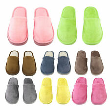 Plush Indoor Home Women Men Anti Slip Shoes Soft  Warm Cotton Silent Slippers BE