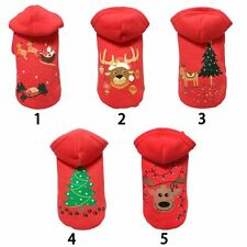 Pet Dog Christmas Tree Clothes Winter Puppy Cat Hoodie Coat Xmas Apparel