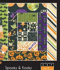 "12"" Halloween Scrapbook Paper Spooky & Kooky 5 pieces Border Trick Treat Party"