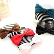 Fashion Women Girls Large Big Satin Hair Bow Hair Clip Boutique Ribbon Bow 5o