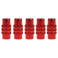 5pcs MTB Bike Alluminum Alloy Knurled Body Presta Valve Caps Dust Covers
