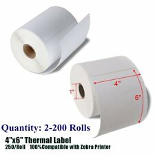 4x6 Direct Thermal Shipping Postage Labels 250/Roll for Zebra Eltron 2844 ZP450