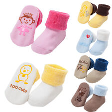 Newborn Infant Toddler Baby Cotton Cartoon Animal Socks Booties Slipper Boots GN