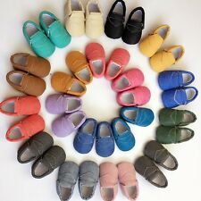 Infant Baby Soft Sole Leather Shoes Candy Color Kids Boy Girl Toddler Moccasin