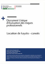 Document unique métier : Location de kayaks - canoës - Version 2016 Fichier word
