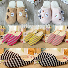 Unisex Soft Warm Indoor Slippers Velvet Plush Sandal House Home Anti-slip Shoes