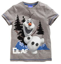 Boys Disney Frozen Olaf Cotton T Shirt Top Age's 7  9 10 Years NEW