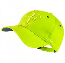 New NIKE EMBROIDERED RF ROGER FEDERER Tennis Hat Cap VOLT YELLOW SWOOSH LIMITED