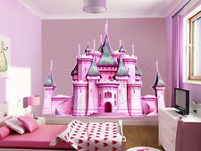 DISNEY GIANT PRINCESS CASTLE Wall Mural Stickers Vinyl Decals Pink Room Decor