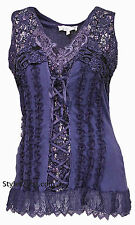 NWT  Pretty Angel Clothing Mercer Women's Vintage Corset Top In Purple  67642