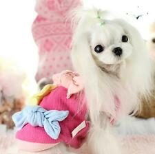 Cute Dog Coat Jacket Winter Dog Clothes Big Bows Pet Costume Dogs Pets Clothing