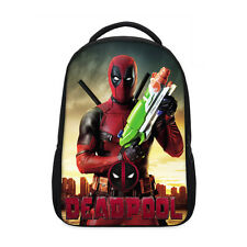 "New Arrival Deadpool Print Kid's School Bag Backpack 17"" Laptop Bag Chilren Gift"