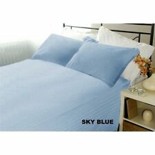 US-BEDDING COLLECTION 1000TC 100%EGYPTIAN COTTON SKY BLUE STRIPE US TWIN SIZE