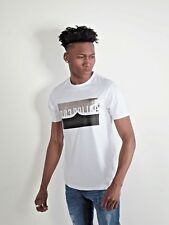 883 Police Mens Lawson White Graphic Crew Neck Short Sleeve T-Shirt Tee Top