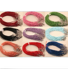 Hot 10pcs/100pcs Leather Cord Necklace with Lobster Clasp Charms 2MM