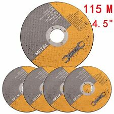 """115mm 4.5"""" Stainless Steel Thin Metal Slitting Cutting Blade Discs Angle Grinder"""
