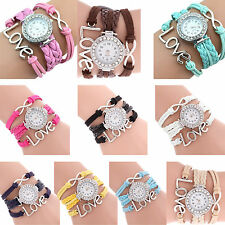 Infinity Love Charm Bracelet Bangle Watch Watch  ED
