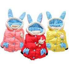 Baby Girl Toddler Winter Outerwear Rabbit Print Hooded Coat Jacket Outfit 10-24M