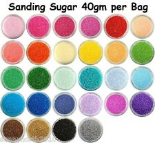 SANDING SUGAR SPRINKLES CUP CAKE CAKE EDIBLE DECORATIONS 40gms CHOICE OF COLOURS