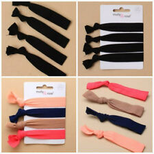 CARD OF 4 Soft Stretch Hair Elastics Wristband-Bun Hair Elastic -Black or Colour
