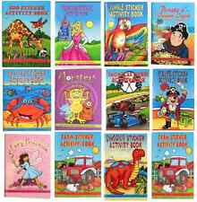 Zoo Farm Animal Sealife Dino Puzzle Sticker Book Party Loot Bag Fillers Stocking