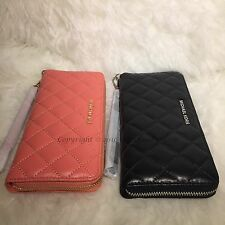 NWT Michael Kors $198 Alex Quilted Continental Travel Leather Wallet/Wristlet