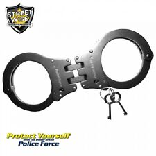 Police Force Heat Treated Hinged Stainless Steel Handcuff - New