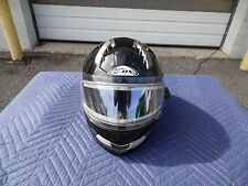 "ZOX PRIMO ""SVS"" SUN VISOR SYSTEM BUILT IN SNOWMOBILE HELMET - GLOSS BLACK XS"