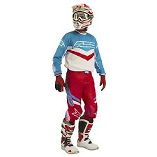 AXO TRANS AM MOTOCROSS GEAR PANTS AND JERSEY SET RED/WHITE/BLUE