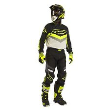 AXO TRANS AM MOTOCROSS GEAR PANTS AND JERSEY SET BLK/FLO-YELLOW