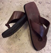 Mens T-Strap T-bar Thong Flip-Flops cables Leather Gypsy Hippie Sandals Beach Mu