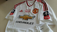 Manchester United 2016 FA CUP FINAL ADIZERO Away Authentic Player issue Shirt