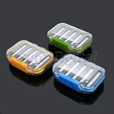 Double Side Fly Ice Fishing Lure Bait Hook Tackle Storage Box Case Waterproof