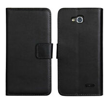 New Genuine Real Leather Wallet Flip Case Cover For Various Smart Phones black