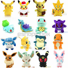 Pokemon Collectible Plush Doll Character Pikachu Squirtle Stuffed Toy Xmas Gift