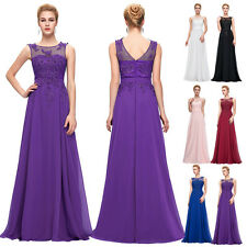 GK Chiffon Lace Floral Evening Formal Party Ball Gown Prom Bridesmaid Dress HOT