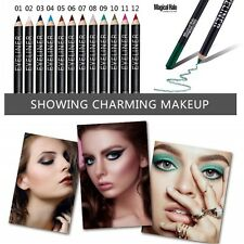 12 Colors/Set Cosmetic Glitter Eye Shadow Lip Liner Eyeliner Pencil Pen Makeup