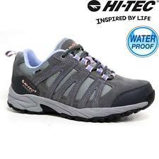 Ladies Womens Hi Tec Leather Walking Hiking Waterproof Trainers Boots Shoes Size