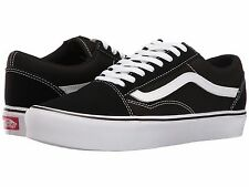 Vans Old Skool Lite Casual Skate Lightweight Shoe Black and White Suede Canvas