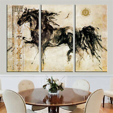 New Arrival Abstract Horse Oil Painting Canvas Art Work Home Decor 3PCs No Frame