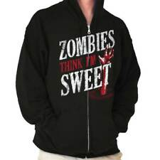 Zombies Think Im Sweet Humor Novelty Funny T Shirt Fashion Zipper Hoodie