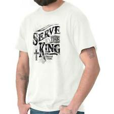 Serve The King Christian T Shirts Jesus Christ Cross Gift Idea T Shirt Tee