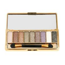 9 Colors Shimmer Glitter Eyeshadow Eye Shadow Palette +Makeup Cosmetic Brush Set