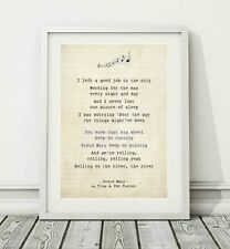 259 Tina And Ike Turner - Proud Mary - Song Lyric Art Poster Print - Sizes A4 A3