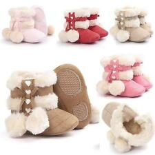 Toddler Girl Soft Sole Baby Winter Snow Boots Infant Prewalker Crib Shoes 0-18M