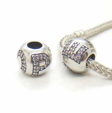 Authentic Genuine S925 Sterling Silver Surrounded By Hope Pink Charm bead
