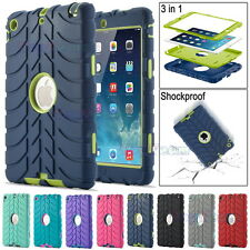 Kids Shockproof Tyre Rubber Heavy Duty Survivor Hard Case Cover For iPad mini